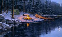 Wintry camp
