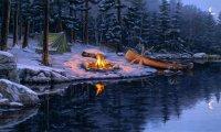 Wintry camp