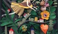 cicada, summer, fullmoon, garden,