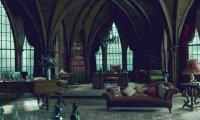 Malfoy Manor during a rainy night