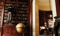 The Baudelaire mansion library before the tragic fire