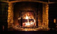 Fireplace Piano