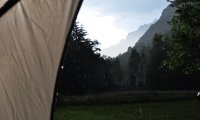 Camping storm
