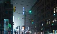 quiet rain in the city