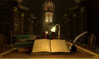 Simply a less busy time at the Hogwarts Library