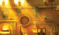 Hufflepuff Common Room - With my Cat!